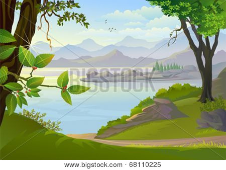 Amazing Lake and Hills
