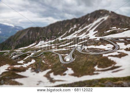 Grossglockner Hochalpenstrasse In Austria