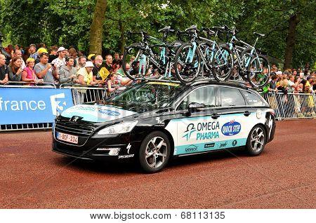 Omega Pharma team in the Tour de France