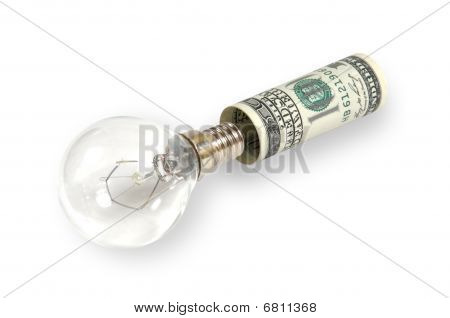 The Lamp Is Inserted Into The Dollar