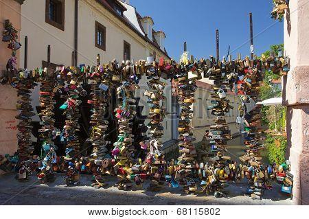 Bridge Of Love In Prague