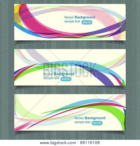 Web header design template, vector
