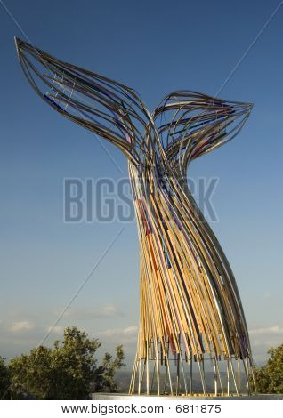 Whale Fin Statue
