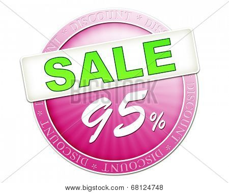 An image of a useful sale button 95%