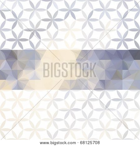 Lavender Pastel Defocused Background With Geometric Ornament And Bright Stripe. Eps10