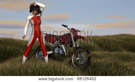 motocross enduro asian girl