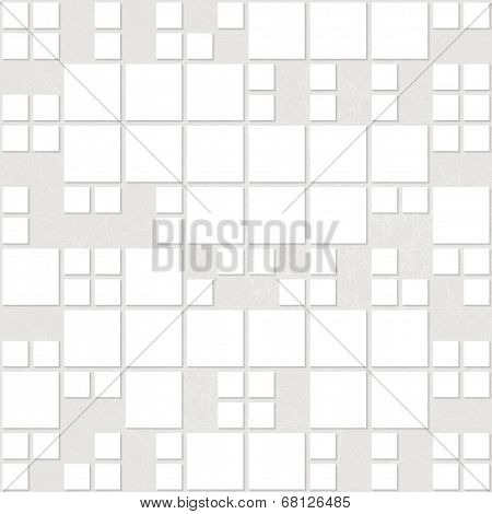 Seamless White Rectangular Origami Pattern. Eps10