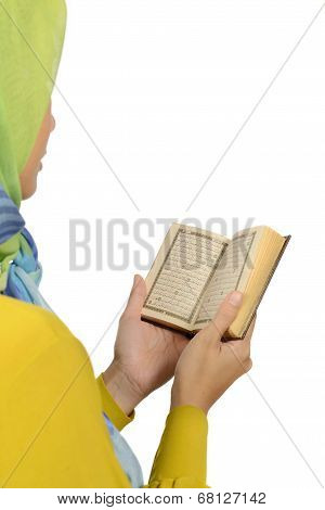 Hijab Woman Reading Koran