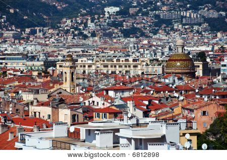 Roofs Of Old Town Of Nice, France