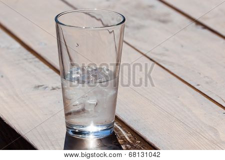 Ice Water In Glass