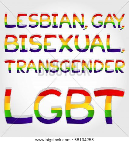 Lesbian, Gay, Bisexual, Transgender, Lgbt Phrase