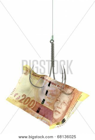 Rand Banknote Baited Hook