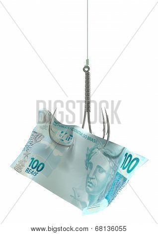 Real Banknote Baited Hook