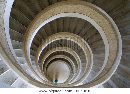 Circular stairs in Chinese temple