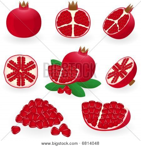 Icon Set Pomegranate