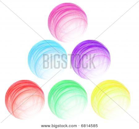 Set Of Multi-coloured Abstract Spheres