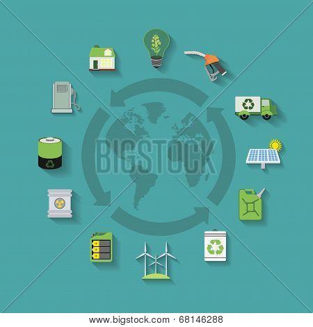 Flat ecology objects set