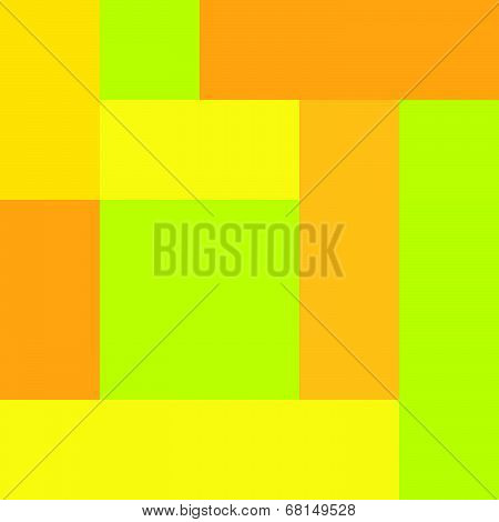 Yellow Orange Lime Pattern
