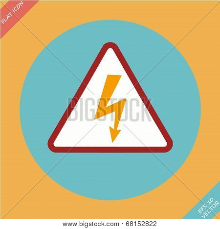 High Voltage Sign - vector illustration.