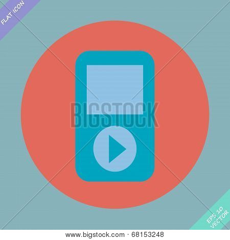 Portable musical player - vector illustration.