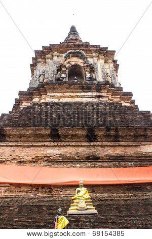Isolated - Pagoda In Wat Lok Mo Lee , Chiangmai