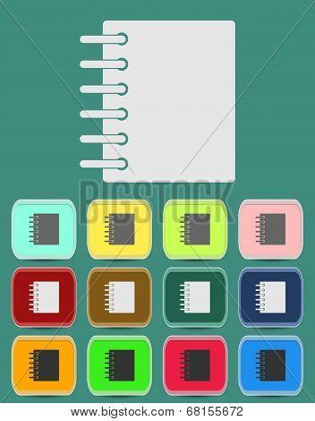 Ring binder calendar notepad - Vector icon