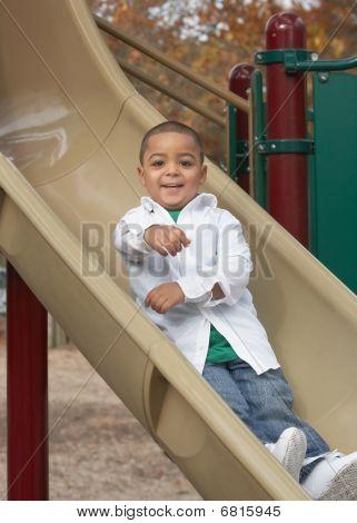 Active hispanic boy