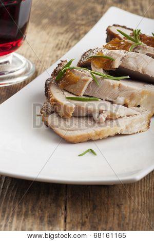 roasted pork dish