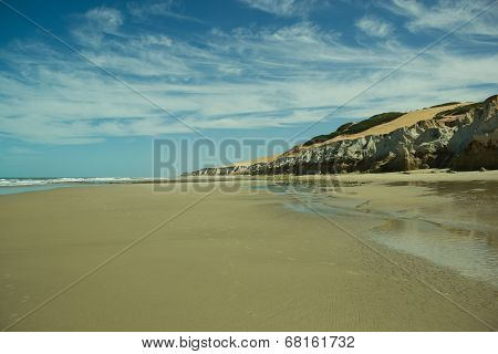 Desert Beach With Cliffs