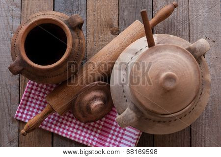 Old Crocks With Rolling Pin