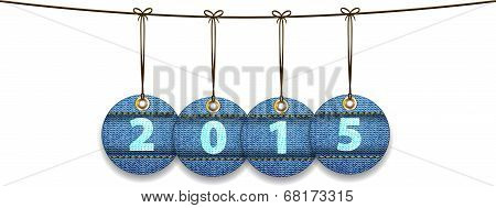 2015 Digits On Labels Made Of Jeans