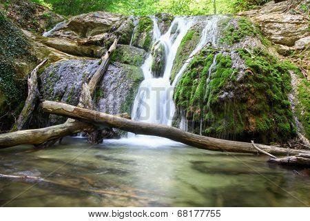 Beautiful waterfall. Crimea. Ukraine.