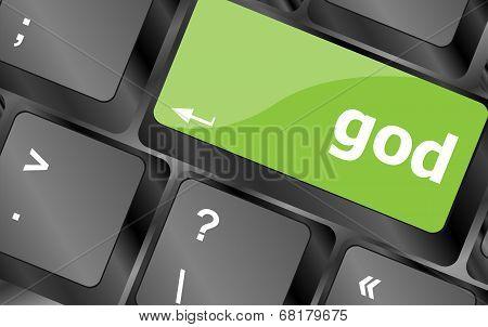 Oh My God On Computer Keyboard Key