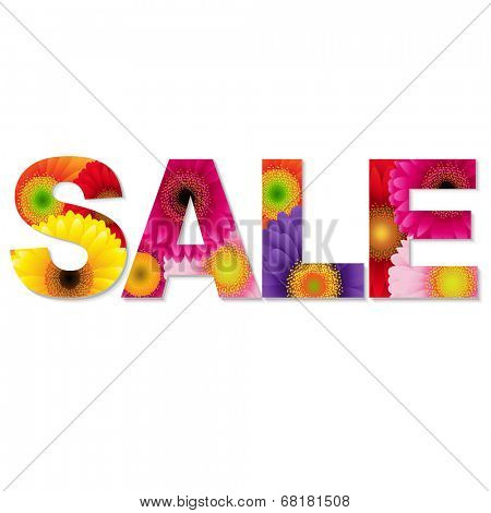 Color Gerbers Sale Text