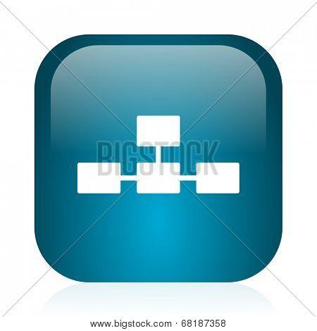 database blue glossy internet icon