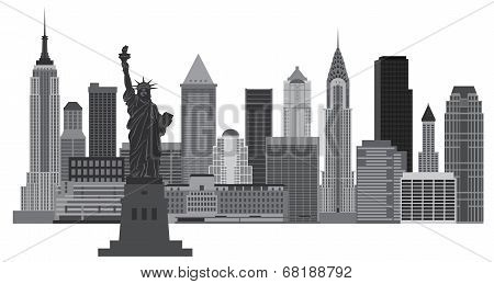 New York City Skyline Illustration