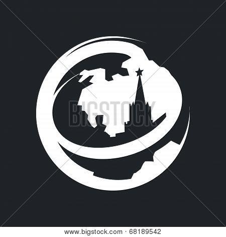 Vector Globe Moscow Kremlin Tourism