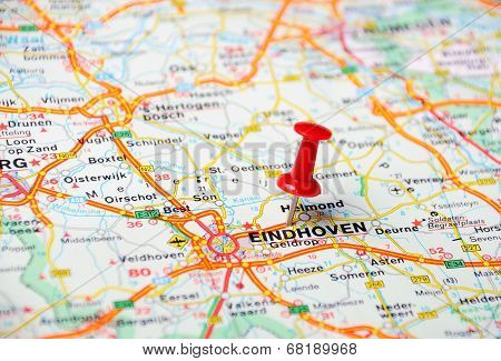 Eindhoven,holland Map