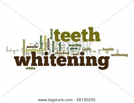 Teeth Whitening Word Cloud