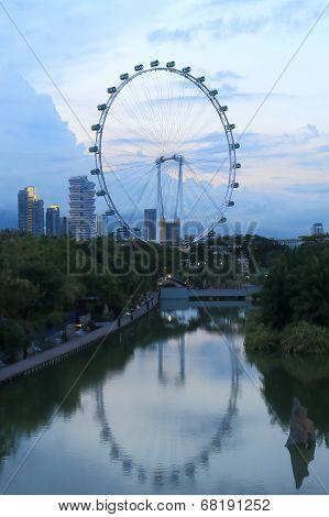 Singapore Flyer cityscape