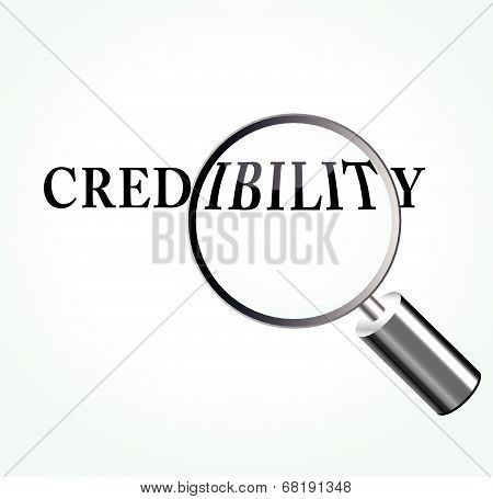Vector Credibility Theme Illustration