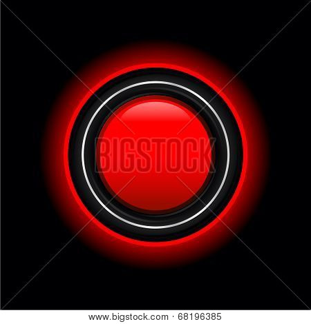 Vector Futuristic Red Button