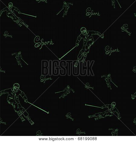 Seamless texture of the skier