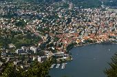 image of salvatore  - view of Lugano from Monte San Salvatore Switzerland