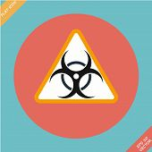 pic of biohazard symbol  - Warning symbol biohazard  - JPG