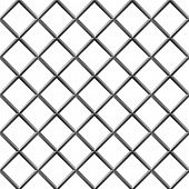 stock photo of metal grate  - Seamless metal diamond shape grill isolated on white - JPG