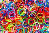 picture of loom  - colorful background rainbow colors rubber bands loom - JPG