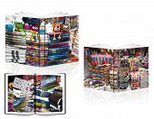 foto of bartering  - A book of the Ecuadoor white background - JPG