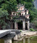 stock photo of dong  - Bich Dong Pagoda in Ninh Binh - JPG