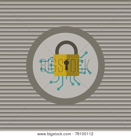 Cyber Security Flat Icon
